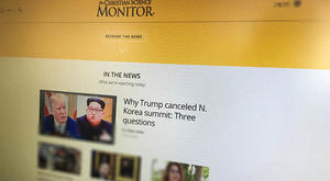 The Christian Science Monitor homepage