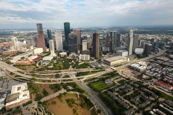 What helps a city like Houston recover after a disaster