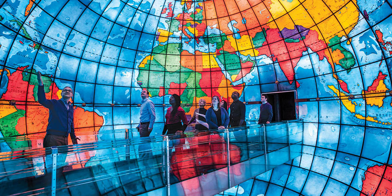 Visit the Mapparium — a stained glass globe at The Christian Science Plaza