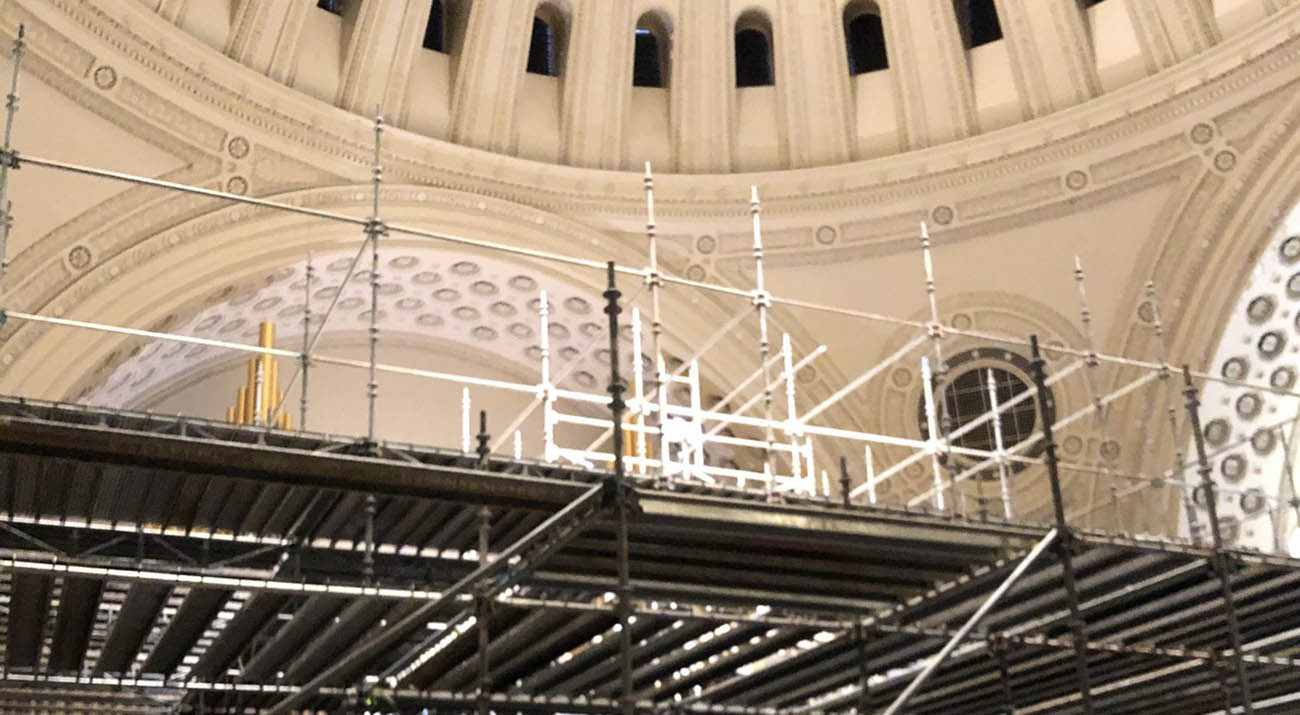 Scaffolding in the Extension of The Mother Church