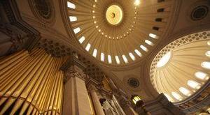 Looking up at the dome of the extension of The Mother Church