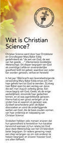 """Wat is Christian Science?"" brochure"