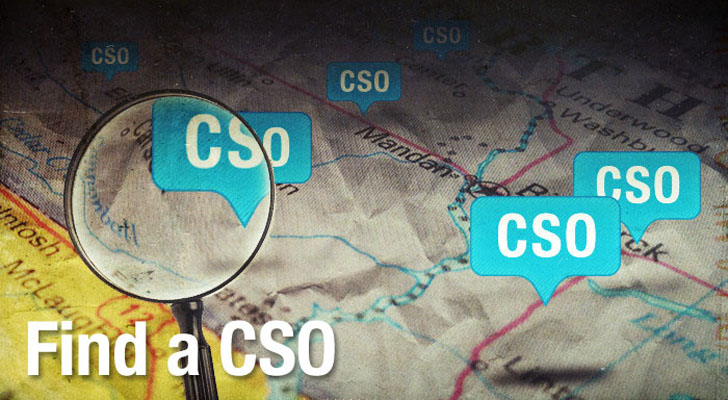 CSO map and directory