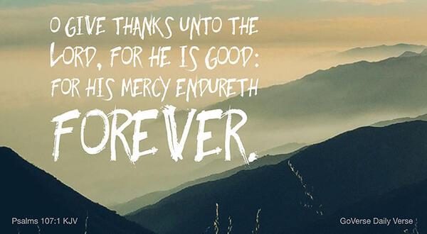 Psalms 107:1 KJV