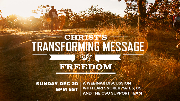 Christ's Transforming Message of Freedom — Webinar