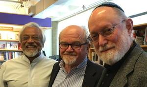 Three Pacific Northwest Interfaith Amigos: Imam Jama Rahman, Pastor Dave Brown, Rabbi Ted Falcon,
