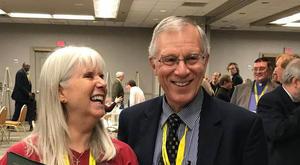 Margi and John at NWCU